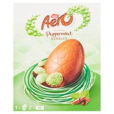 image 2 of Nestle Aero Peppermint Bubbles Chocolate Egg 252G