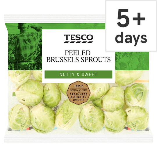Tesco Peeled Brussels Sprouts 200G