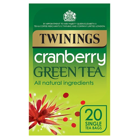 Twinings Green Tea And Cranberry 20 Teabags 40G