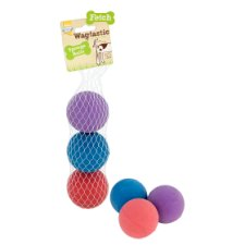 image 2 of Good Boy Sponge Balls Dog Toy 3 Pack