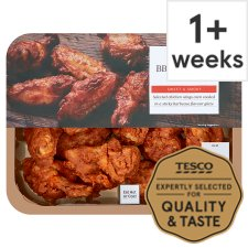 Tesco Ready To Eat Bbq Roast Chicken Wings 525G