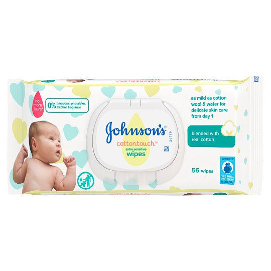 Johnson's Baby Cotton Touch Wipes 56 Pieces