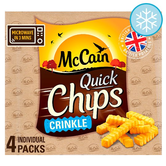 Mccain Quick Chips Crinkles 4 X 100G