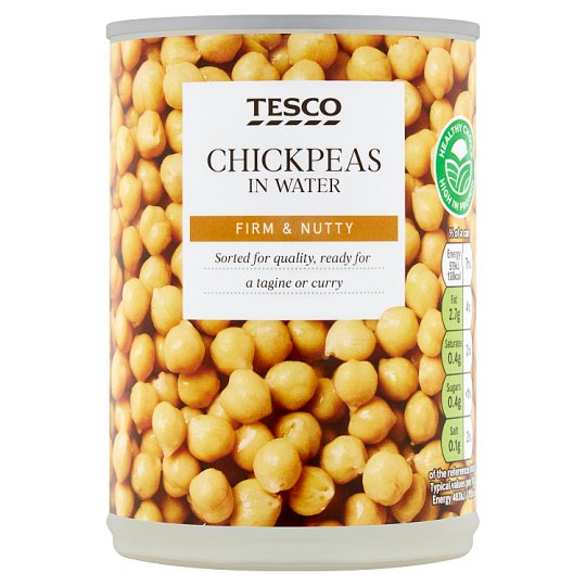 Tesco Chickpeas In Water 400G