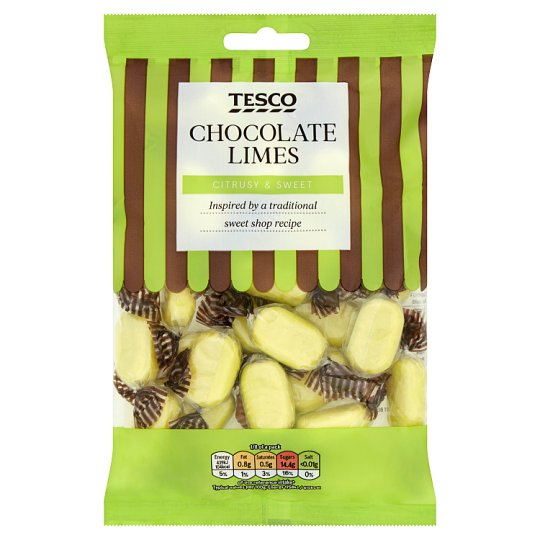 Tesco Sweet Shop Chocolate Limes 200G