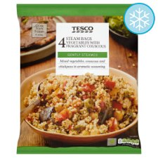 Tesco 4 Steam Bags Vegetable With Fragrant Couscous 640G