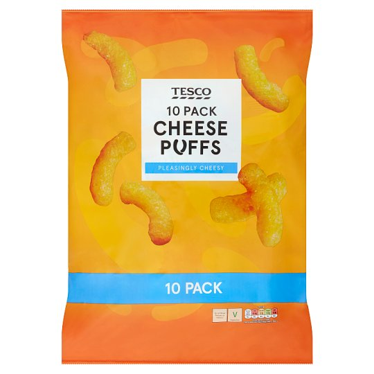 Tesco Cheese Puffs 10 Pack 170G