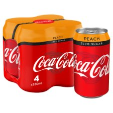 Coke Zero Peach 4X330ml