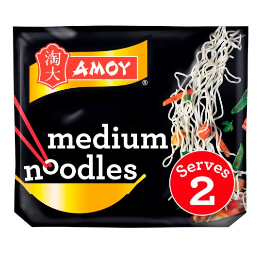 Amoy Straight To Wok Medium Noodles 2 Pack 300G