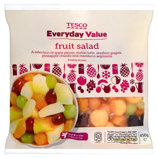 Tesco Everyday Value Frozen Fruit Salad 450G