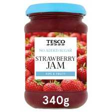 Tesco No Added Sugar Strawberry Jam 340G