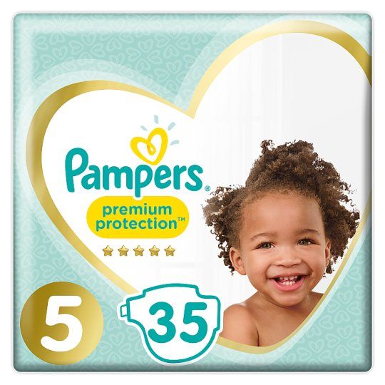 image 1 of Pampers Premium Protection Size 5 Essential Pack 35 Nappies