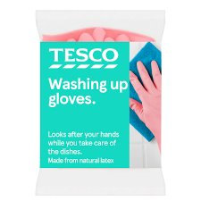 Tesco Dishwashing Rubber Gloves Large 1 Pair