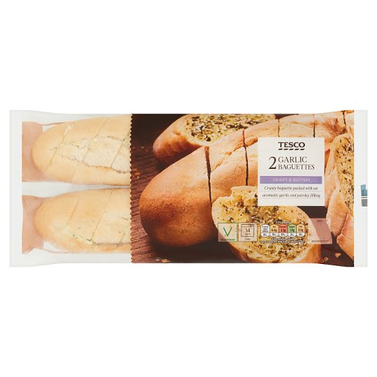 Tesco Garlic Butter Baguette 2 Pack, 430 G