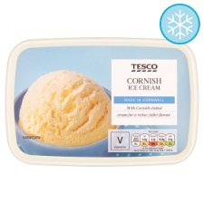 Tesco Cornish Cream Dairy Ice Cream 1Ltr