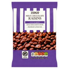 Tesco Milk Chocolate Raisins 200G