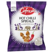 Cofresh Chilli Potato Spirals Hot And Spicy 80G