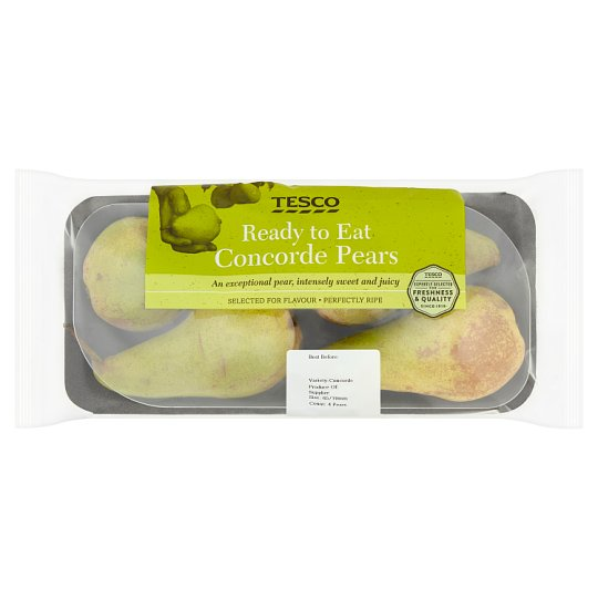 Tesco Ready To Eat Concorde Pears 4Pack 580G