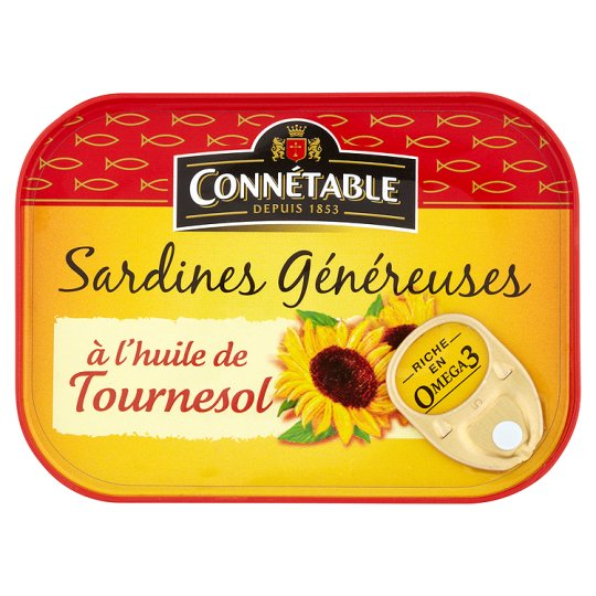 Connetable Sardines In Sunflower Oil 140G