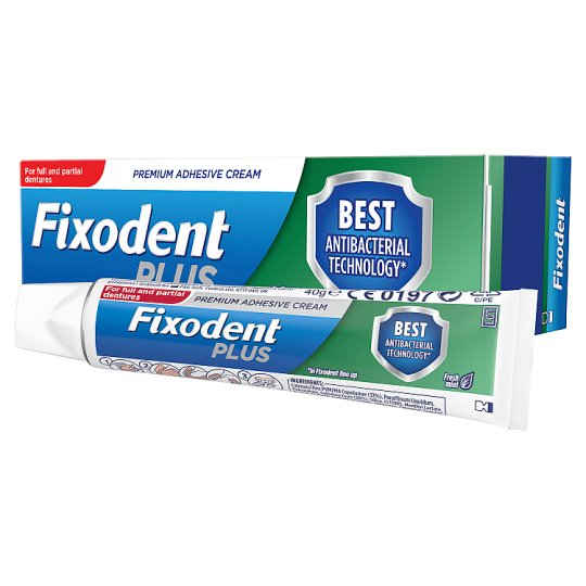 Fixodent Plus Dual Denture Adhesive Cream 40G