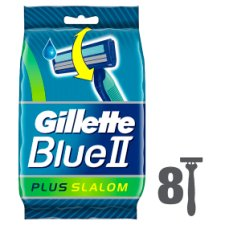 Gillette Blue 2 Slalom Disposable Razors 8 Pack