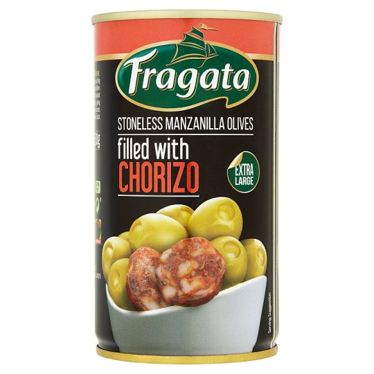 Fragata Chorizo Stuffed Green Olives 350G