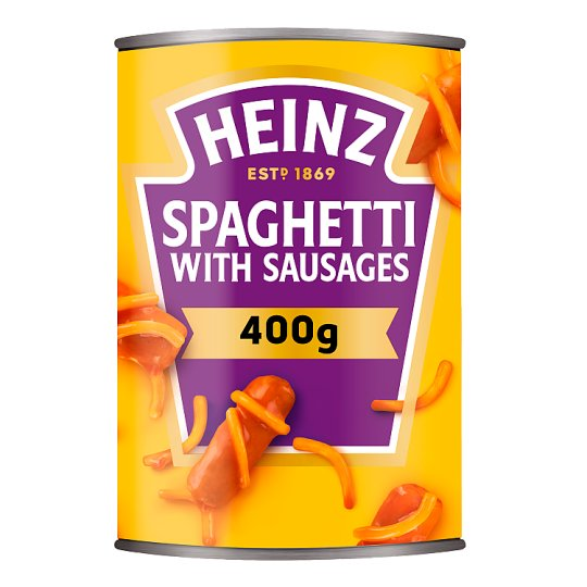 Heinz Spaghetti And Sausages In Tomato Sauce 400G
