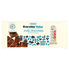 Tesco Everyday Value Milk Chocolate Bar 100G