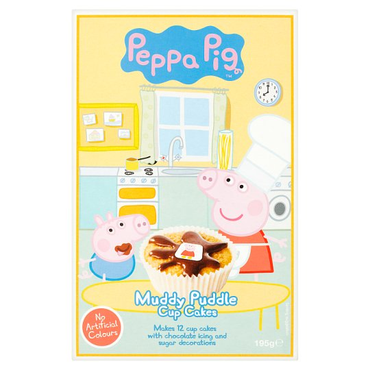 Peppa Pigs Muddy Puddle Cupcake Mix 225g Tesco Groceries