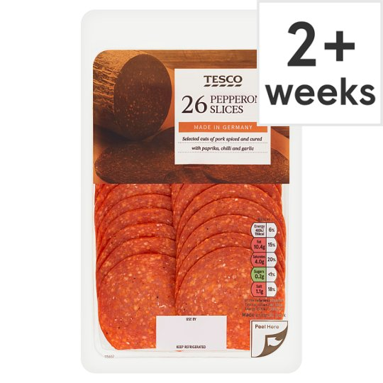 Tesco Sliced Spicy Pepperoni 130G
