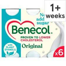 Benecol Original No Added Sugar 6 x 67.5g