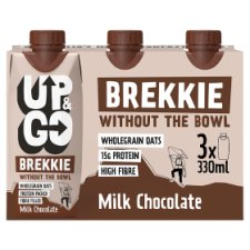 Up And Go Milk Chocolate Brekkie 3X330ml