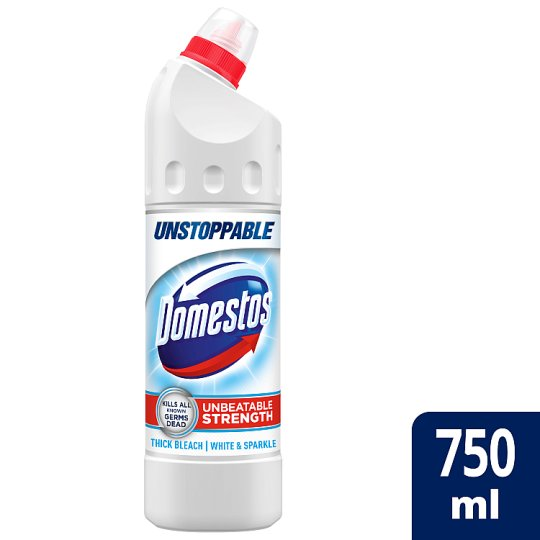 image 1 of Domestos Ultra White And Sparkle Bleach 750Ml