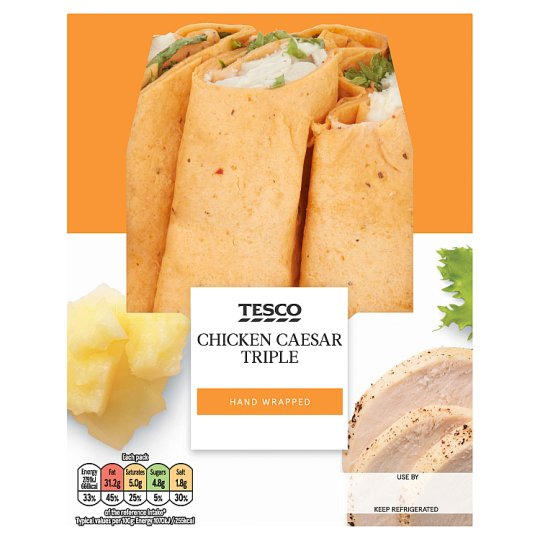 Tesco Triple Chicken Caesar Wrap