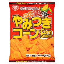 Wagaya Corn Snack Hot And Spicy Flavour 55G