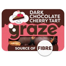 Graze Dark Chocolate Cherry Tart 40G