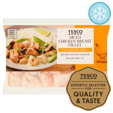 Tesco Diced Chicken Breast Fillets 640G