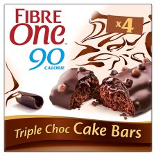 Fibre One Cake Bar Triple Chocolate 4 X 25G
