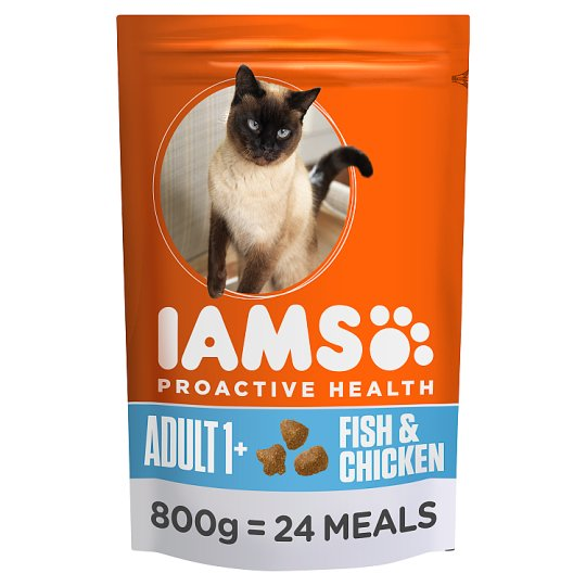 Iams Fish And Chicken Dry Cat Food 800G