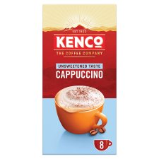 image 1 of Kenco Unsweetened Cappuccino 8 Sachets 112G