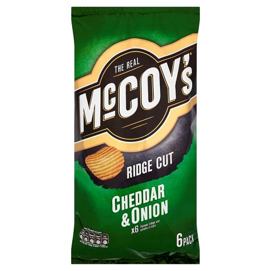 Mccoy's Cheese And Onion Crisps 6 X 27 G