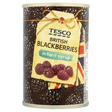 Tesco British B/Berries In Light Syrup 290G