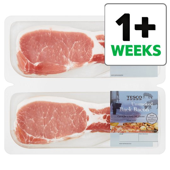 image 1 of Tesco Unsmoked Back Bacon 2X300g