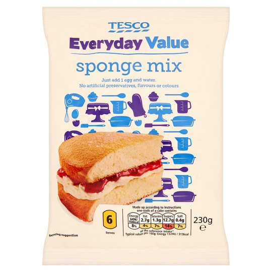 Tesco Everyday Value Sponge Mix 230G