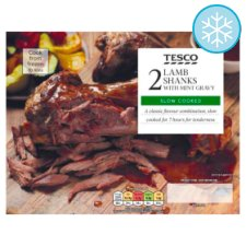 Tesco 2 Lamb Shanks In Mint Gravy 800G