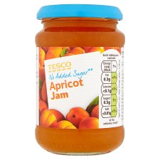 Tesco No Added Sugar Apricot Jam 340G