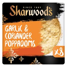 Sharwoods Garlic & Coriander Poppadom 8 Pack