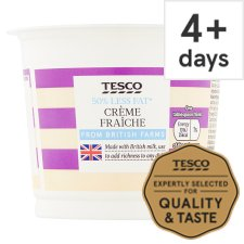 Tesco 50% Less Fat Creme Fraiche 300Ml