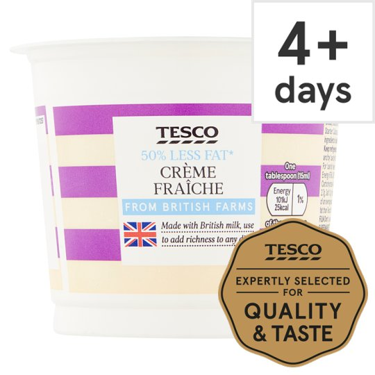 Tesco Half Fat Creme Fraiche 300Ml