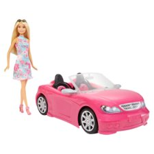 Barbie Convertible Car And Doll